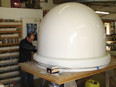 Customised satellite dome