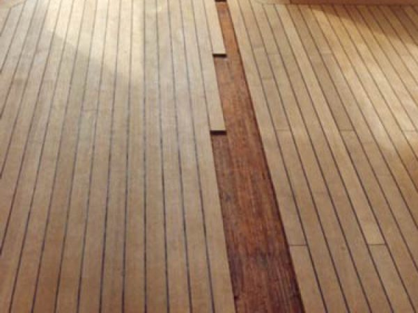 Replacing of teak planks