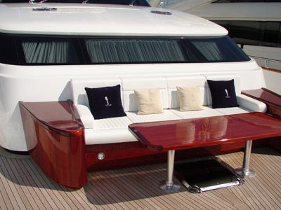 Fitted sofa on Portugese deck