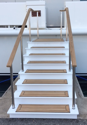 Custom built boarding stairs
