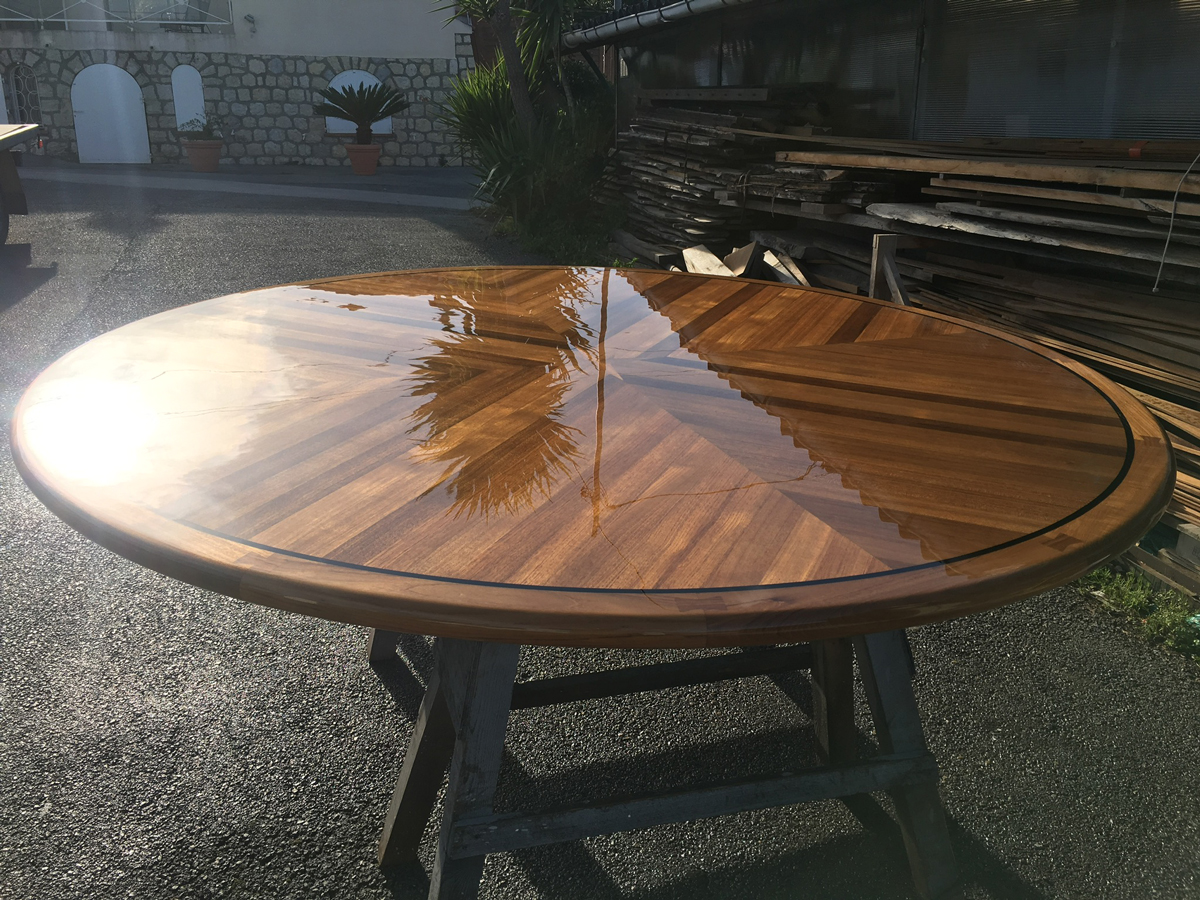 TABLE-VARNISHED